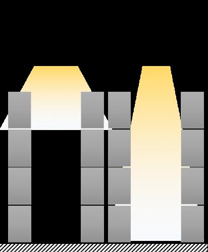 Ejemplo distribución de luz